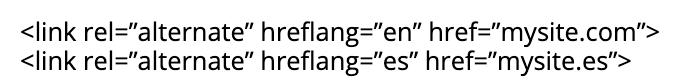 hreflang קוד דוגמא